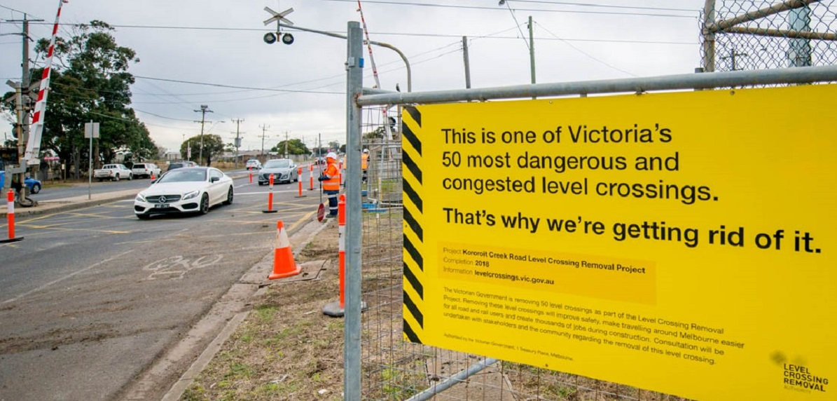 Level Crossing Removal Project Reaches Halfway